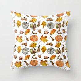 Autumnal Elements Throw Pillow