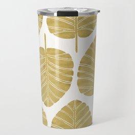 Elephant Ear Alocasia – Gold Palette Travel Mug