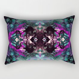Textured Graffiti Print Rectangular Pillow