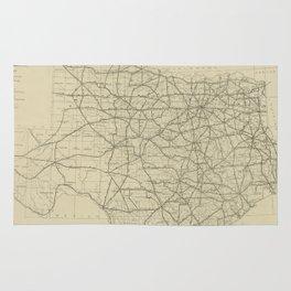 Vintage Texas Highway Map (1919) Rug