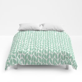 Hand Knit Zoom Mint Comforters