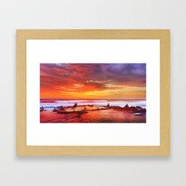 Evening flame Framed Art Print