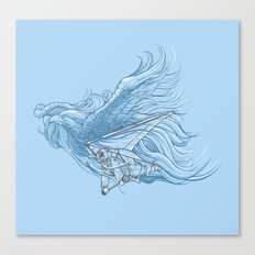 gliding on the wind Canvas Print