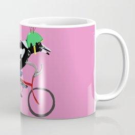 Magpie Bike Swoop (in Pink) Coffee Mug
