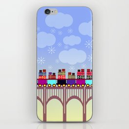 A train with Christmas gifts iPhone Skin