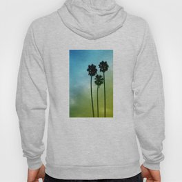 Palm Trees, Blue to Yellow Fade Hoody