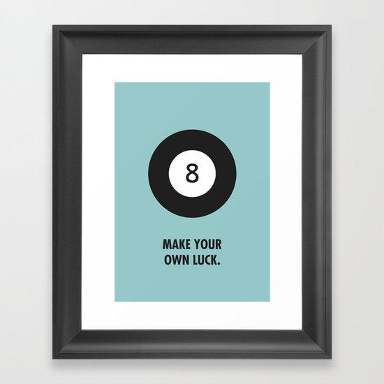Luck. Framed Art Print