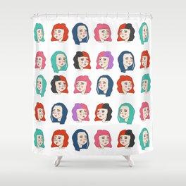 Hairstyles print Shower Curtain