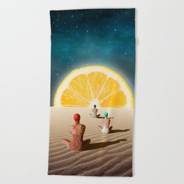 Desert Moonlight Meditation Beach Towel