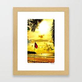 Red Flag, Thailand Framed Art Print
