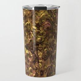 Abalone Shell | Paua Shell | Orange Tint Travel Mug