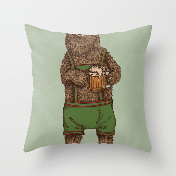 Traditional German Bear Throw Pillow