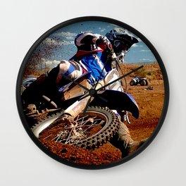 Motocross Dirt Track Motorcycle Racing Print Wall Clock