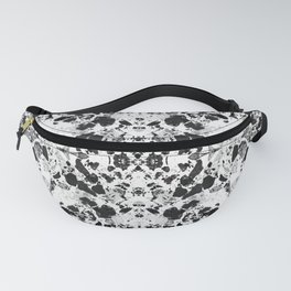 Beautiful Black and White Terrazzo Tile Fanny Pack