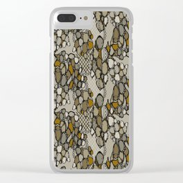 Contemporary Snake skin Clear iPhone Case