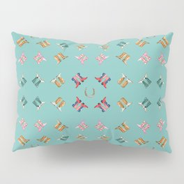 boots all over turquoise Pillow Sham