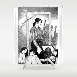 asc 890 - Les filles de la frontière (Wild wild women) Shower Curtain