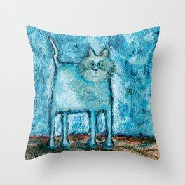 A bit tensed Throw Pillow