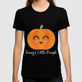 Mommy's Little Pumpkin Cute Halloween Autumn Seasonal graphic T-shirt