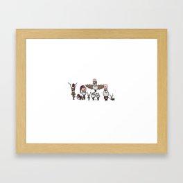 Santas! Framed Art Print