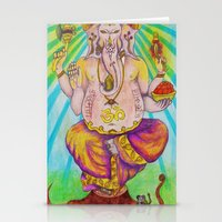 ganesha Stationery Cards featuring Ganesha by Lioz