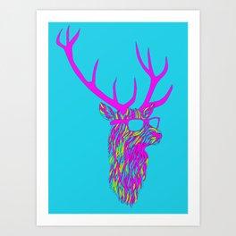 Party deer Art Print