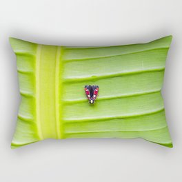 Alone on the leaf. Rectangular Pillow