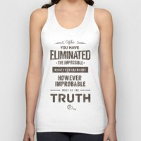 quotes Tank Tops featuring Detective Quotes by CHOCOMINT GEEK