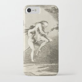 Witches on a Broomstick by Francisco Goya, 1797 iPhone Case
