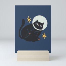 Space cat Mini Art Print