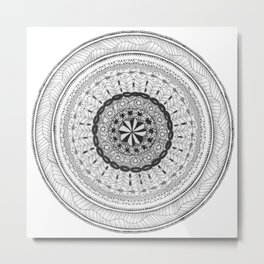 Zendala - Zentangle®-Inspired Art - ZIA 17 Metal Print