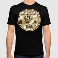 Plane Crazy Black X-LARGE Mens Fitted Tee