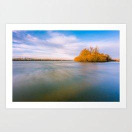 River in motion Art Print