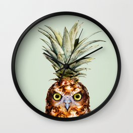 PINEAPPLE OWL Wall Clock