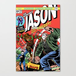 The Invincible Jason vs Freddy Canvas Print