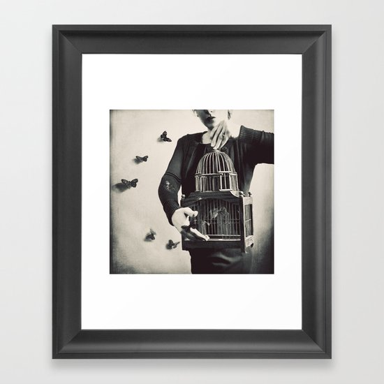 The Butterfly Releaser Framed Art Print