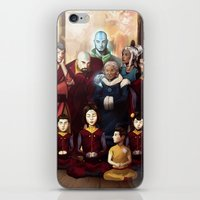 aang iPhone & iPod Skins featuring Aang and Katara's Legacy by Meder Taab