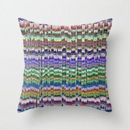 Textured Mosaic Layers Throw Pillow