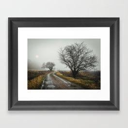 See what lies ahead Framed Art Print