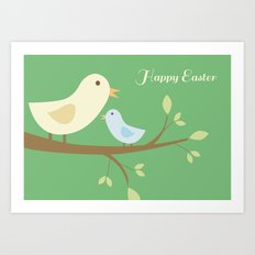 Easter Greeting Cards Art Print