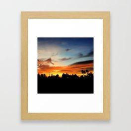 Night's Reflection Framed Art Print
