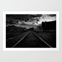 Dark Railway Art Print