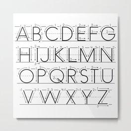 The Alphabet Metal Print
