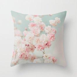 Gypsophila pink blush ll Throw Pillow