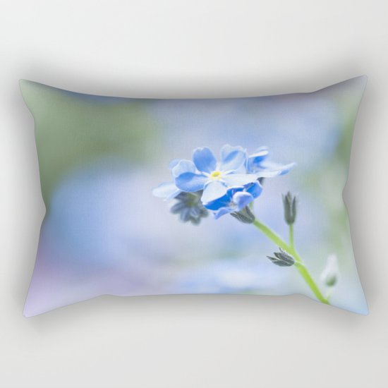 Forget-me-not in LOVE - Springflower Flowers Floral on #Society6 Rectangular Pillow