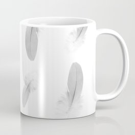 soft grey feather pattern Coffee Mug