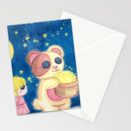 Stars Night with Children Stationery Cards