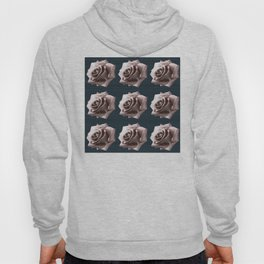 Rosy striped roses Hoody
