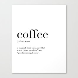 Coffee Definition Canvas Print