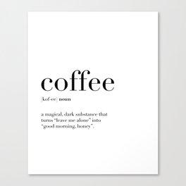 Coffee Definition Canvas Print